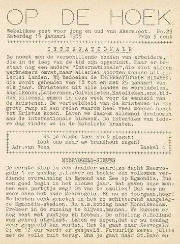 Op De Hoek, weekblad voor Akersloot 1955-01-15