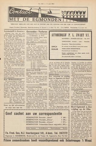 Contact met de Egmonden 1964-06-11