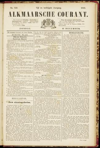 Alkmaarsche Courant 1883-12-16