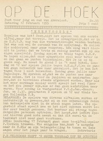 Op De Hoek, weekblad voor Akersloot 1955-02-12