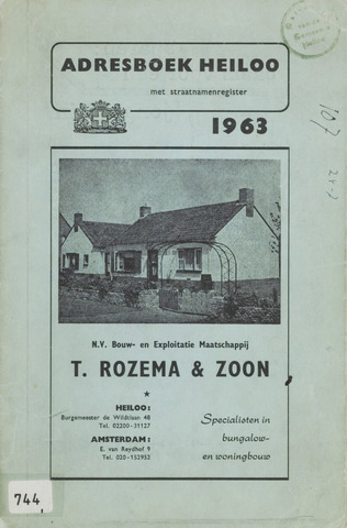 Adresboek van Heiloo 1963-01-01