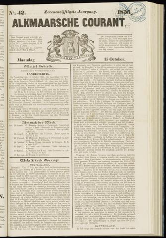 Alkmaarsche Courant 1855-10-15