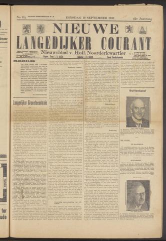 Nieuwe Langedijker Courant 1933-09-19
