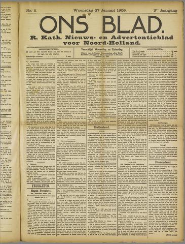 Ons Blad : katholiek nieuwsblad voor N-H 1909-01-27