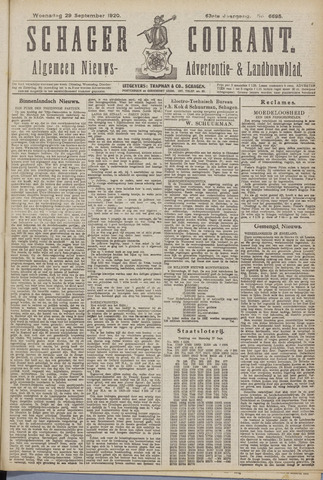 Schager Courant 1920-09-29