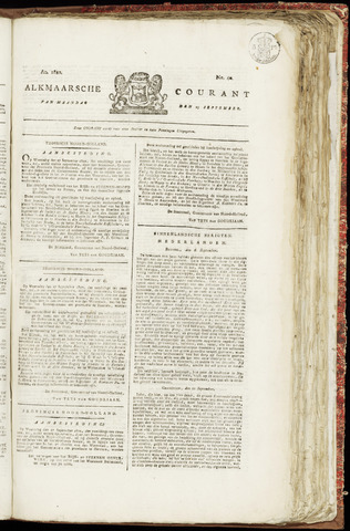 Alkmaarsche Courant 1820-09-25