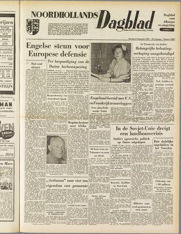 Noordhollands Dagblad : dagblad voor Alkmaar en omgeving 1953-09-15