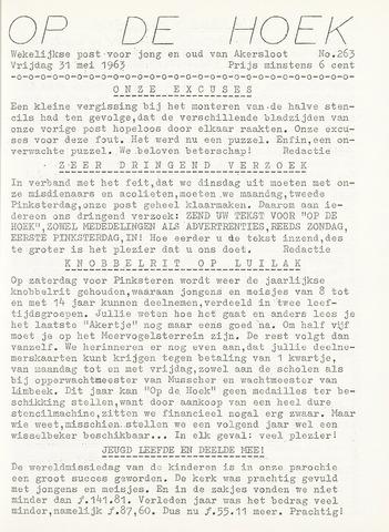 Op De Hoek, weekblad voor Akersloot 1963-05-31