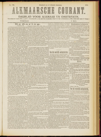 Alkmaarsche Courant 1915-05-07