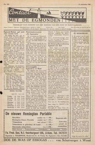 Contact met de Egmonden 1962-09-27