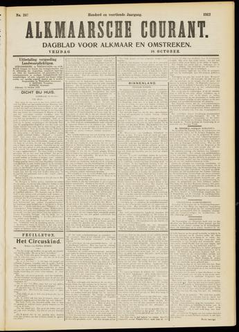 Alkmaarsche Courant 1912-10-18