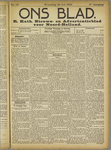 Ons Blad : katholiek nieuwsblad voor N-H 1908-07-22