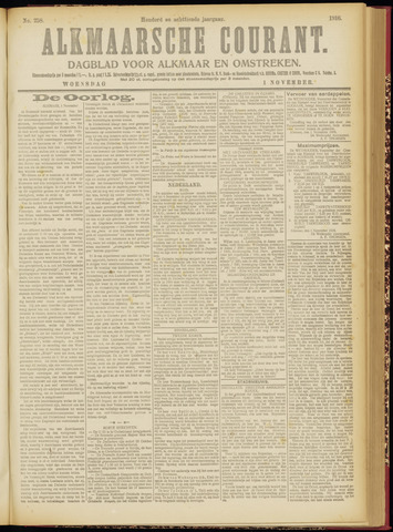 Alkmaarsche Courant 1916-11-01