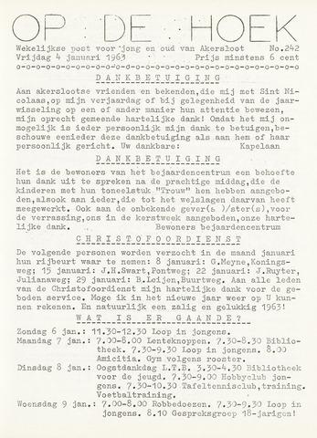 Op De Hoek, weekblad voor Akersloot 1963-01-04