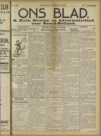Ons Blad : katholiek nieuwsblad voor N-H 1910-03-26