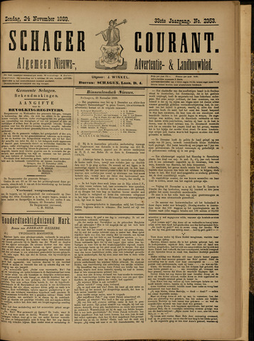 Schager Courant 1889-11-24