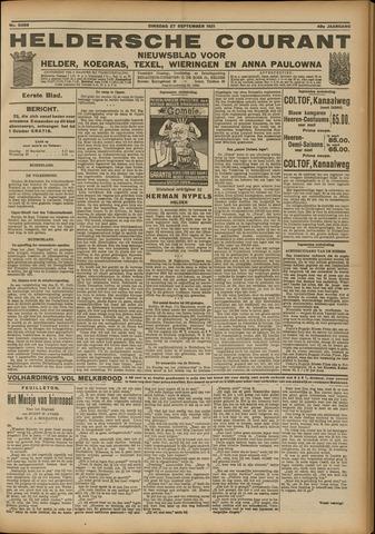 Heldersche Courant 1921-09-27