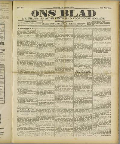 Ons Blad : katholiek nieuwsblad voor N-H 1921-01-18