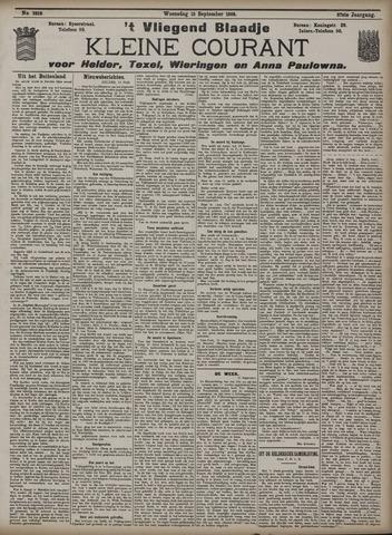 Vliegend blaadje : nieuws- en advertentiebode voor Den Helder 1909-09-15