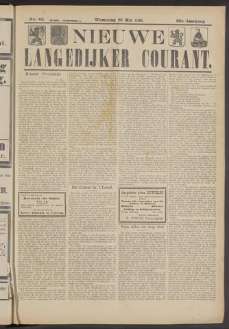 Nieuwe Langedijker Courant 1921-05-25
