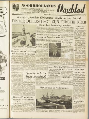Noordhollands Dagblad : dagblad voor Alkmaar en omgeving 1959-04-16