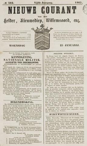 Nieuwe Courant van Den Helder 1865-01-25