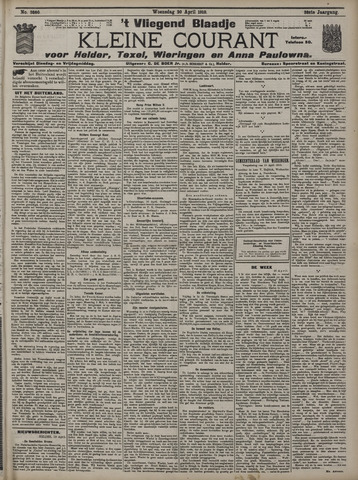 Vliegend blaadje : nieuws- en advertentiebode voor Den Helder 1910-04-20