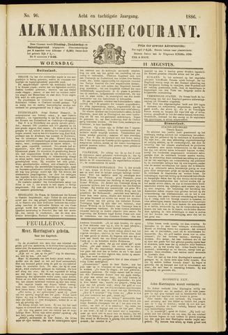 Alkmaarsche Courant 1886-08-11