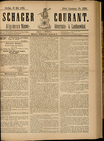 Schager Courant 1889-05-19