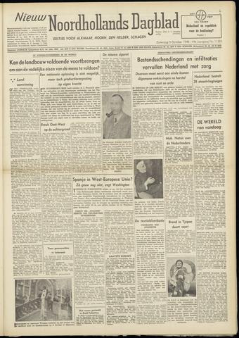 Nieuw Noordhollandsch Dagblad : voor Alkmaar en omgeving 1948-10-09