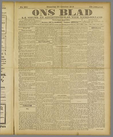 Ons Blad : katholiek nieuwsblad voor N-H 1919-10-20