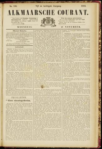 Alkmaarsche Courant 1883-11-21
