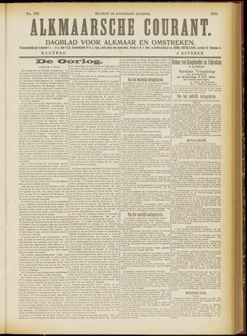 Alkmaarsche Courant 1915-10-04