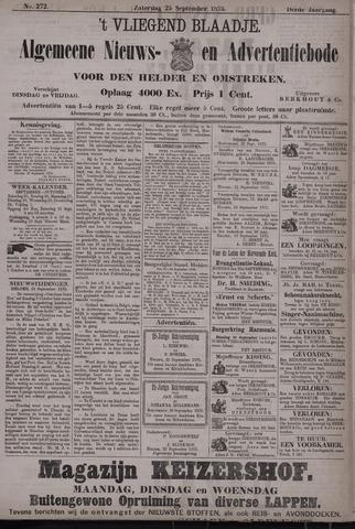 Vliegend blaadje : nieuws- en advertentiebode voor Den Helder 1875-09-25