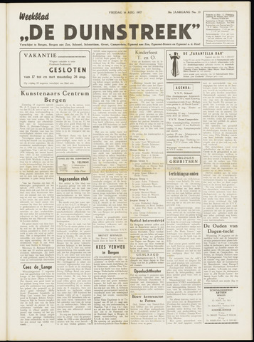 De Duinstreek 1957-08-16