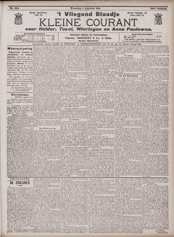 Vliegend blaadje : nieuws- en advertentiebode voor Den Helder 1904-08-03