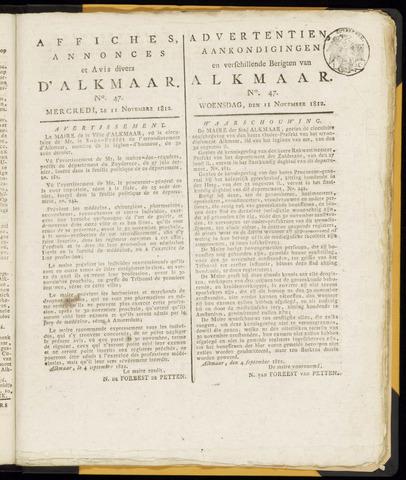 Alkmaarsche Courant 1812-11-11
