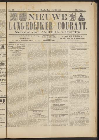 Nieuwe Langedijker Courant 1923-07-12
