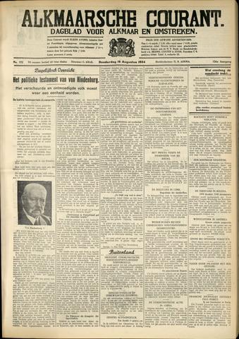 Alkmaarsche Courant 1934-08-16