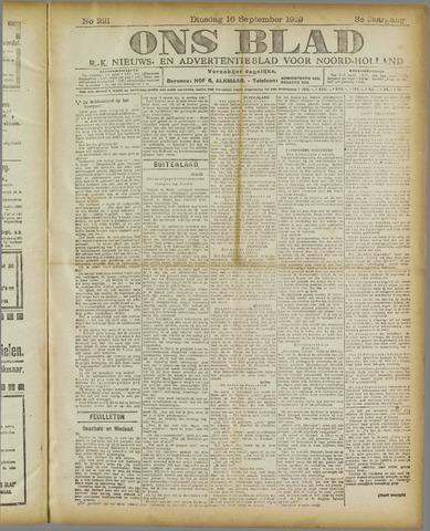 Ons Blad : katholiek nieuwsblad voor N-H 1919-09-16