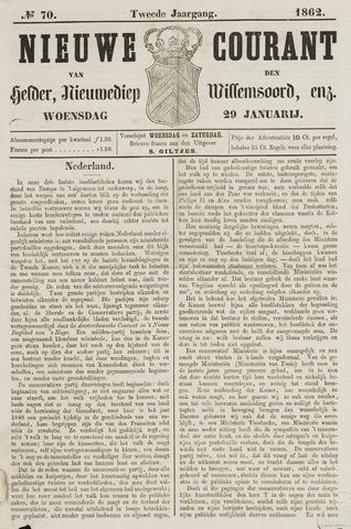 Nieuwe Courant van Den Helder 1862-01-29
