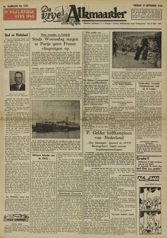 De Vrije Alkmaarder 1948-09-17