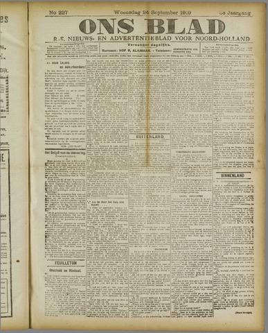 Ons Blad : katholiek nieuwsblad voor N-H 1919-09-24