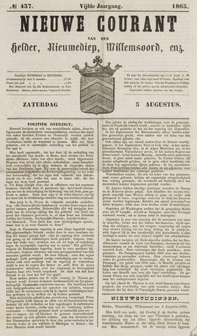 Nieuwe Courant van Den Helder 1865-08-05