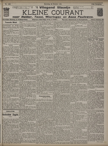Vliegend blaadje : nieuws- en advertentiebode voor Den Helder 1909-10-30