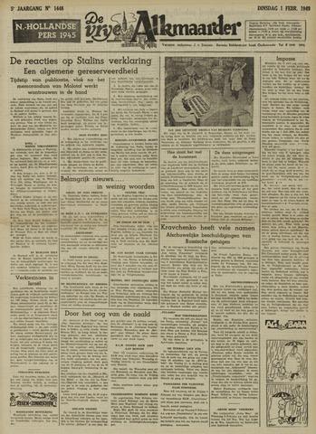 De Vrije Alkmaarder 1949-02-01