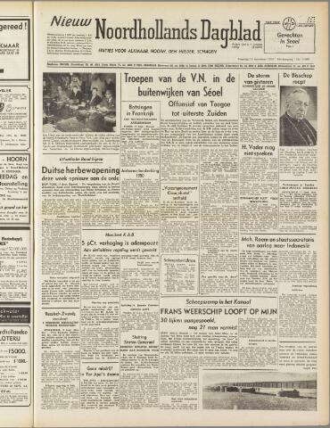 Nieuw Noordhollandsch Dagblad : voor Alkmaar en omgeving 1950-09-18