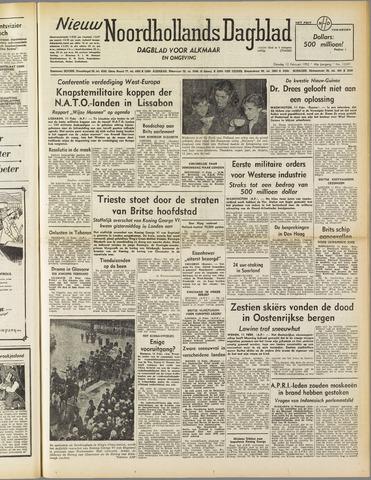 Nieuw Noordhollandsch Dagblad : voor Alkmaar en omgeving 1952-02-12