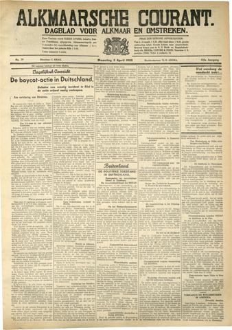 Alkmaarsche Courant 1933-04-04