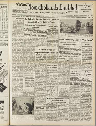 Nieuw Noordhollandsch Dagblad : voor Alkmaar en omgeving 1949-02-10